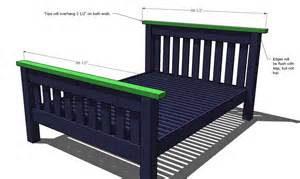 Simple Bed Frame Plans White Simple Bed Size Diy Projects