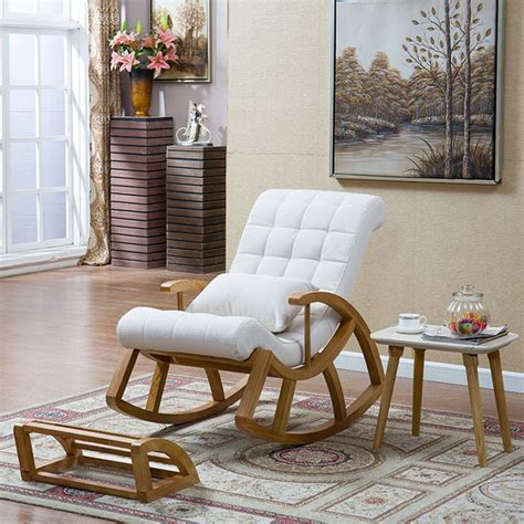Living Room Rocking Chairs - wood rocking chair glider rocker and ottoman set living