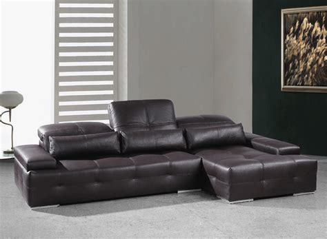 Chocolate Brown Sectional Sofas Modern Chocolate Brown Sectional Sofa He Leather Sectionals