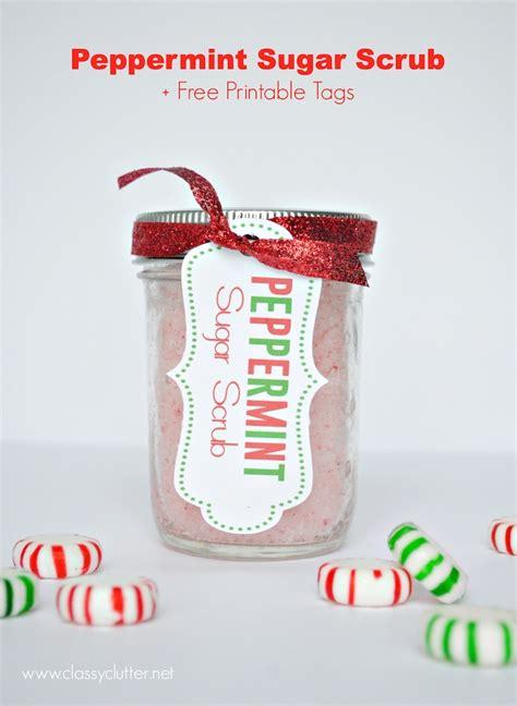 printable label for peppermint sugar scrub diy peppermint sugar scrub recipe free printable tags