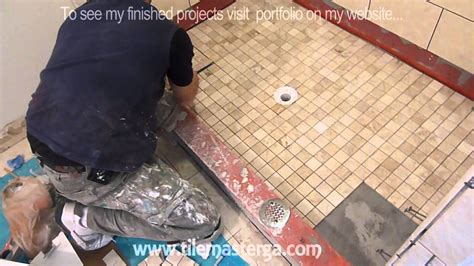 How To Install A Tile Shower Floor by Part Quot 4 Quot How To Tile Shower Floor Shower Pan Mud Bed