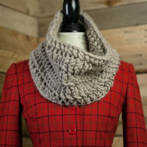Loom Knit Cowl Pattern Chunky Lace Cowl Pattern This
