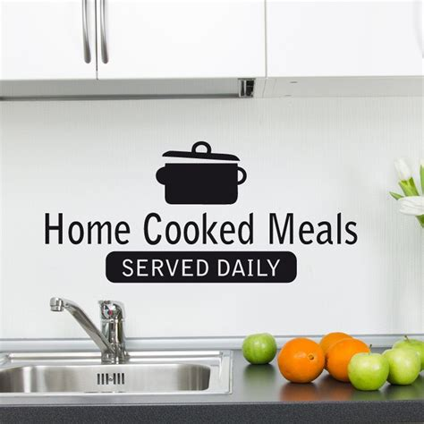 home wall stickers quotes home cooked meals wall sticker quote wall chimp uk