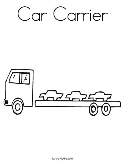 car carrier coloring page car carrier coloring page twisty noodle