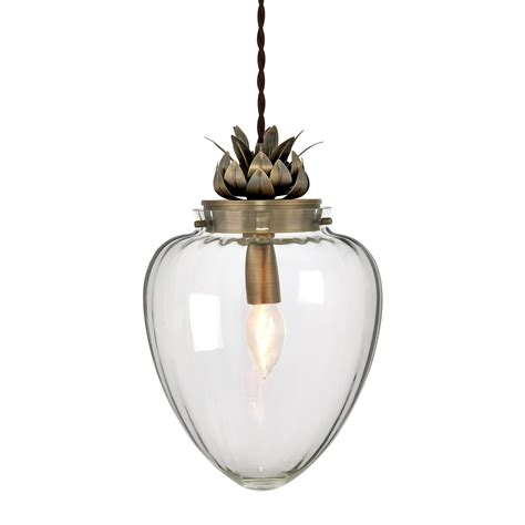 vintage glass pendant light glass and antique brass ceiling pendant light