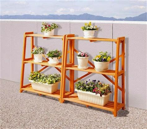 Rak Bunga Besi Minimalis model rak pot bunga dan tanaman hias unik dari bahan kayu