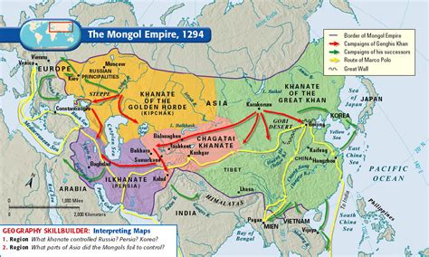 mongol empire map conquests genghis khan the mongolian empire