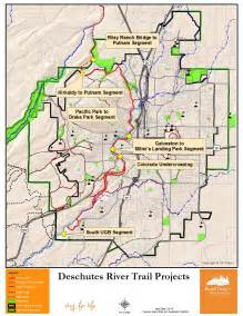Deschutes river trail project map bend parks and recreation district