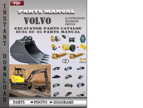 volvo excavator ec25 ec 25 parts manual catalog