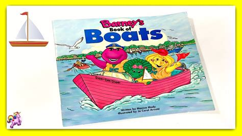 barney boats barney quot barney s book of boats quot read aloud storybook