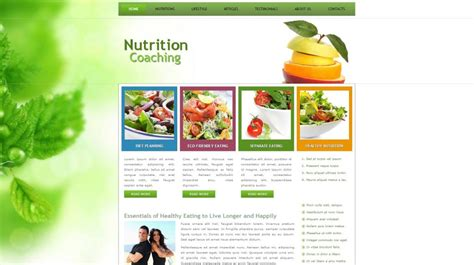 wordpress themes nutrition free wordpress themes build a blog