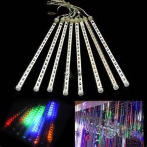 led cascade lights 8 falling drop icicle snow fall string led tree