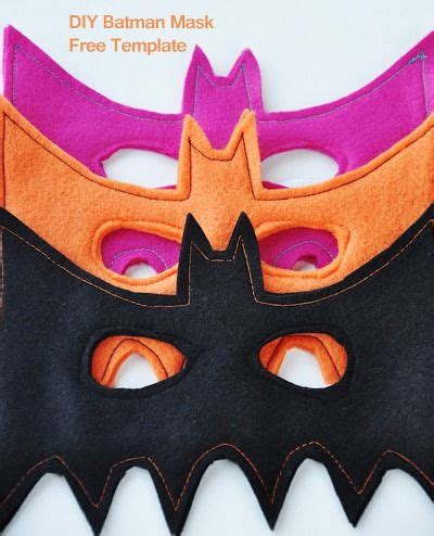 bat mask template halloweenie decor pinterest mask diy batman masks free template kids will love it