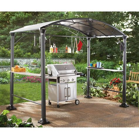 backyard rain shelter eclipse backyard grill center black 213260 gazebos at