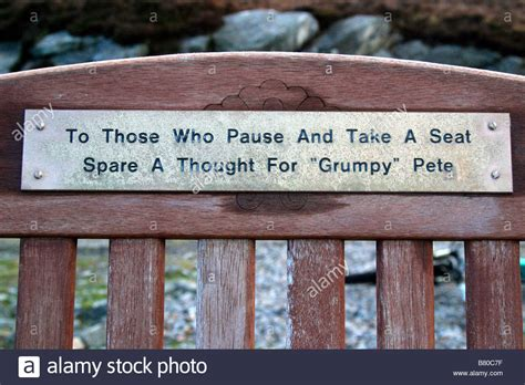 bench plaque bench plaque stock photo royalty free image 22137235 alamy