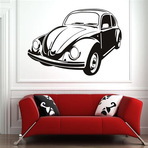 cars stickers for wall vw beetle cars transport wall sticker wall decal transfers ebay