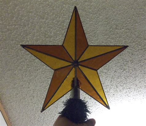 texas star christmas tree topper stained glass nautical