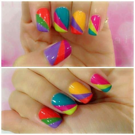 cute colors cute multi color nails nail nails more nails pinterest