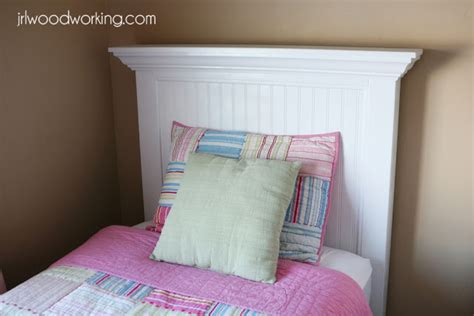 making a twin headboard ana white twin bed beadboard headboard diy projects