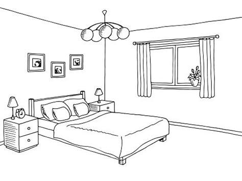 schlafzimmer clipart schlafzimmer schwarz wei 223 e grafik innen skizze abbildung