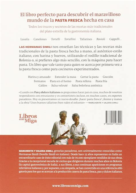 libro pasta fresca al autntico pasta fresca al aut 233 ntico estilo italiano de las hermanas simili