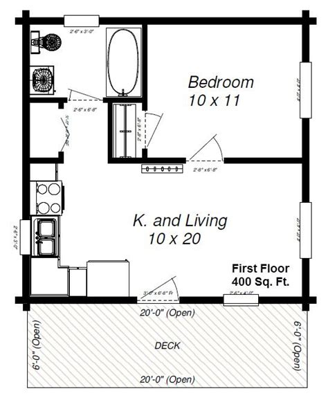 600 Square Foot House With Loft Small Cottages Under 600 Sq Feet Panther 89 With Loft