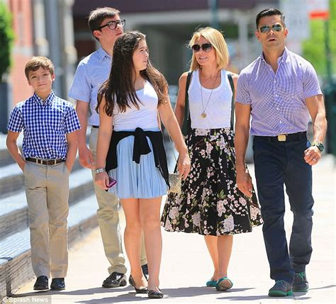 pictures of kelly ripas children kelly ripa passionately kisses husband mark consuelos