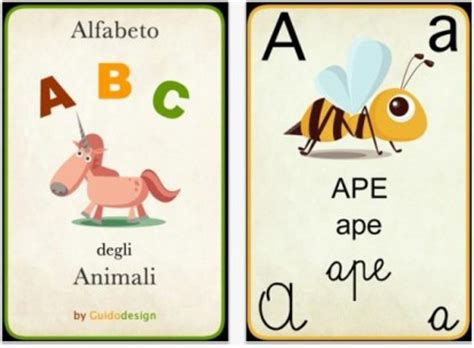 alfabeto italiano completo di lettere straniere abc degli animali insegna l alfabeto ai nostri bambini