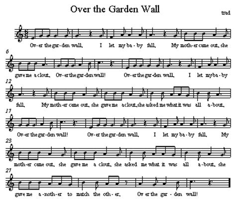 the garden wall lyrics taught them the song clapping the pulse until everyone