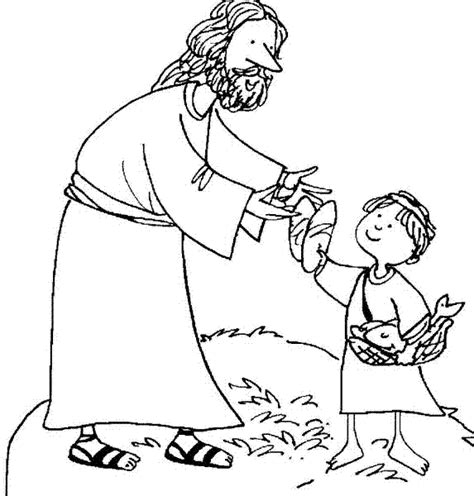 Coloring Page Jesus Feeds 5000 by Jesus Feeds 5000 Coloring Page Coloring Pages