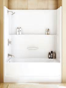 one shower and tub stalls interior exterior