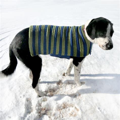 crochet pattern for large dog coat crochet spot