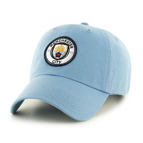 manchester city fc baseball cap hat sky blue football club