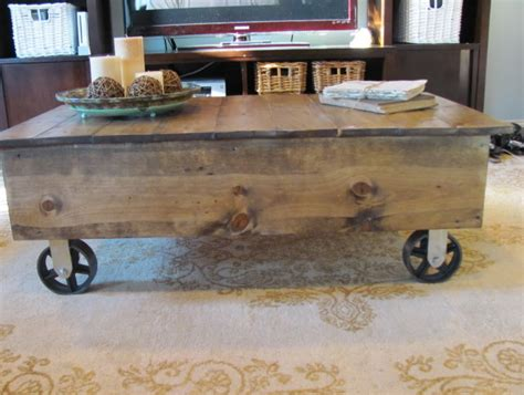 diy factory cart coffee table home design ideas