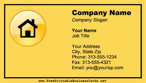 home improvement business cards