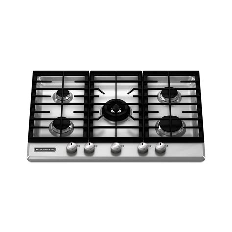 30 Cooktop Gas Kitchenaid Kfgs306vss 30 Quot Gas Cooktop Sears Outlet