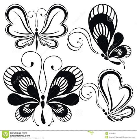 imagenes en blanco y negro de mariposas mariposas blancos y negros foto de archivo libre de
