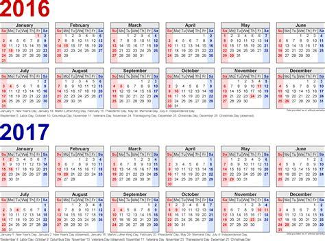 2016 17 Calendar Printable