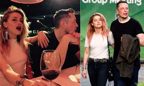 amber heard and elon musk confirm relationship with pda home daily mail online