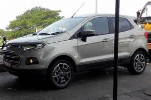 Export spec 2016 ford ecosport facelift spied testing in india
