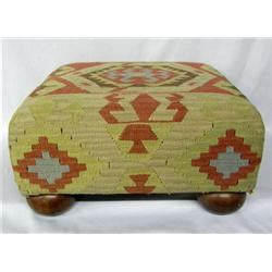 rug covered ottoman kilim rug covered ottoman made by the bombay co