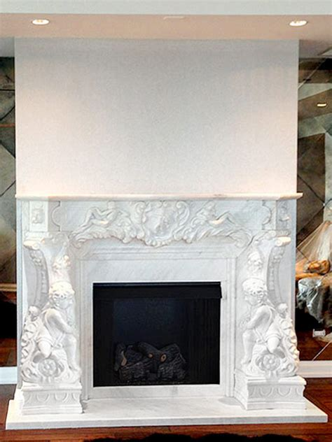 marble mantels custom fireplace mantel