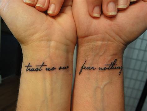 tattoos trust no one quotes quotesgram