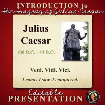 themes in julius caesar powerpoint julius caesar shakespeare powerpoint by tracee orman tpt