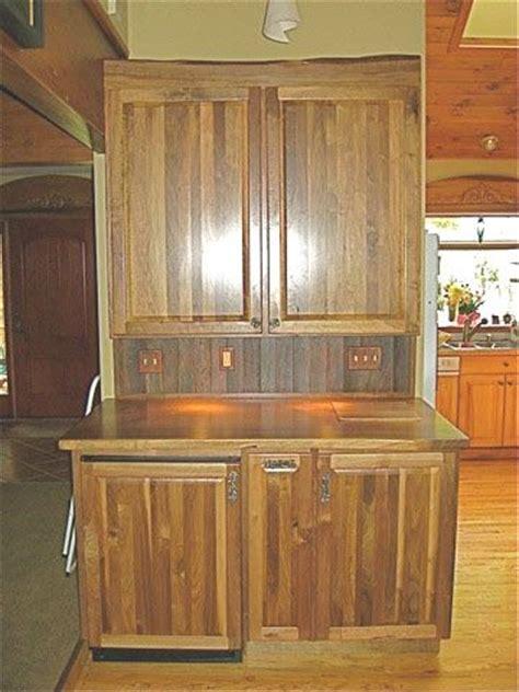 custom  rustic walnut bar cabinet   points