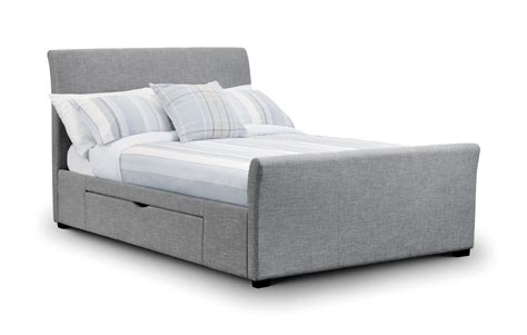 king size bed with drawers uk coru a light grey fabric king size bed with 2 drawers jb136