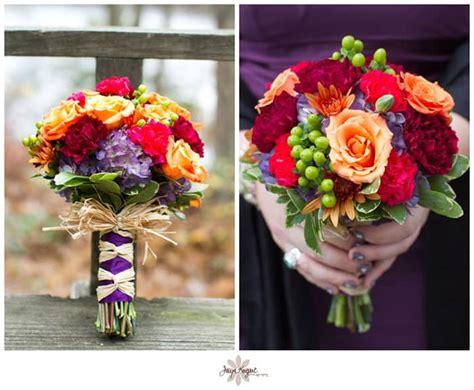 rustic diy wedding flowers in nature themed wedding