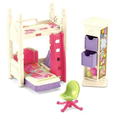 fisher price loving family deluxe bedroom play set