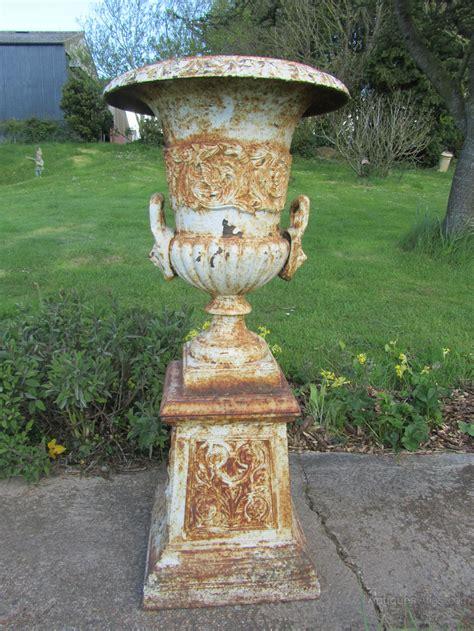 antique cast iron antiques atlas pair large victorian cast iron urns