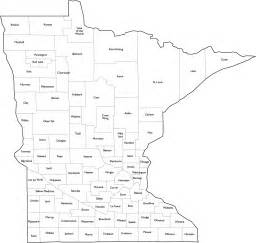 What County Is Mn In Minnesota County Map With Names